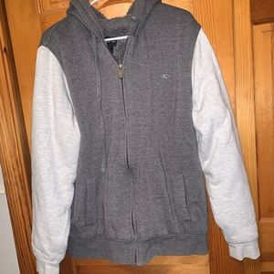 large o'neill fuzzy gray sweatshirt